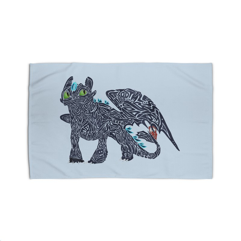 TOOTHLESS Home Rug by greenlambart's Artist Shop