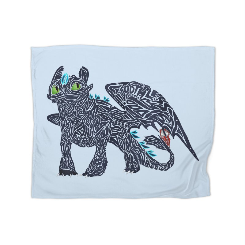 TOOTHLESS Home Fleece Blanket Blanket by greenlambart's Artist Shop