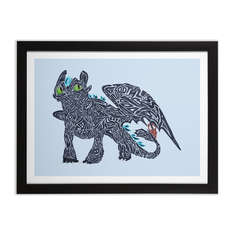 TOOTHLESS Home Framed Fine Art Print by greenlambart's Artist Shop
