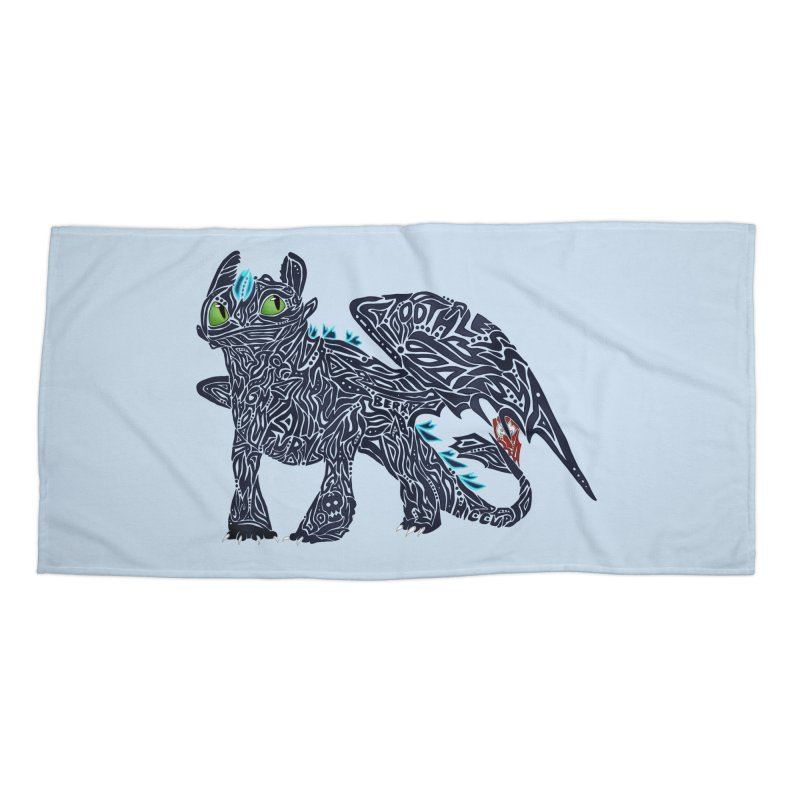 TOOTHLESS Accessories Beach Towel by greenlambart's Artist Shop