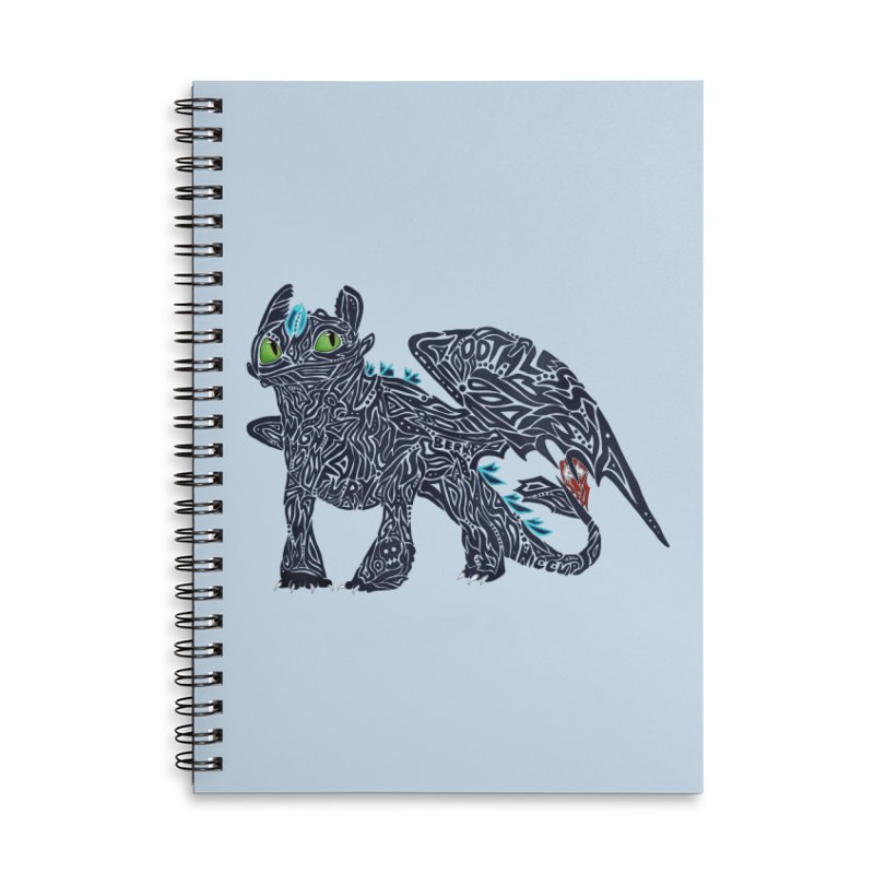 TOOTHLESS Accessories Lined Spiral Notebook by greenlambart's Artist Shop