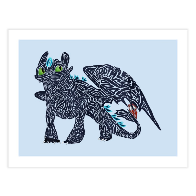 TOOTHLESS Home Fine Art Print by greenlambart's Artist Shop