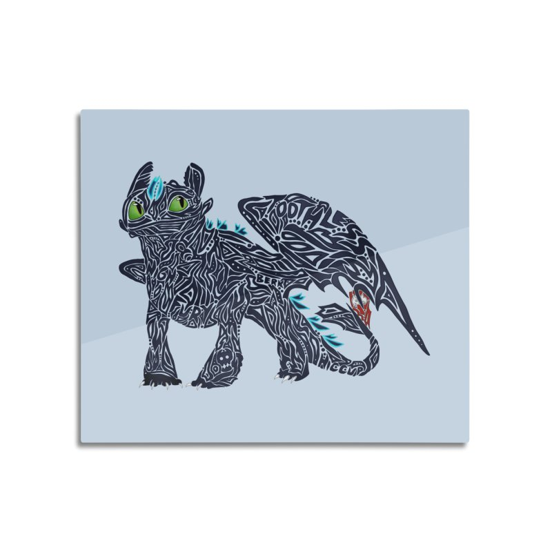 TOOTHLESS Home Mounted Aluminum Print by greenlambart's Artist Shop