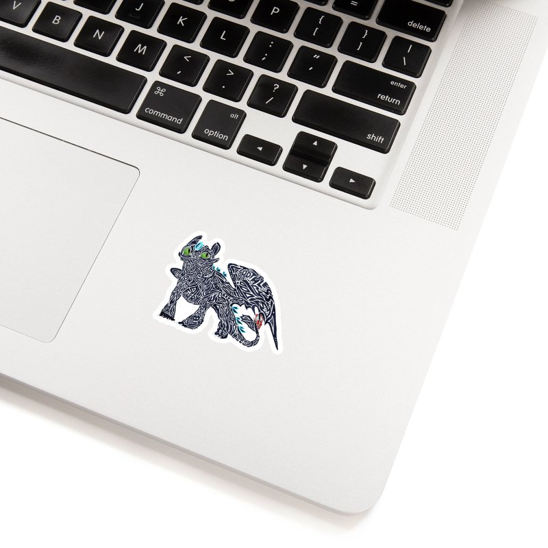 TOOTHLESS Accessories Sticker by greenlambart's Artist Shop