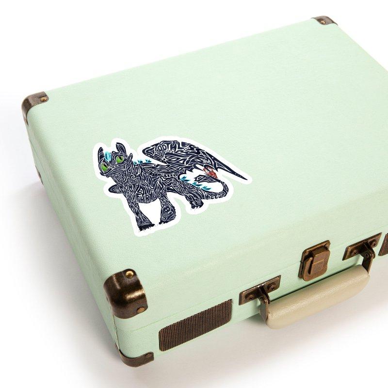 TOOTHLESS Accessories Sticker by greenlambart's Artist Shop