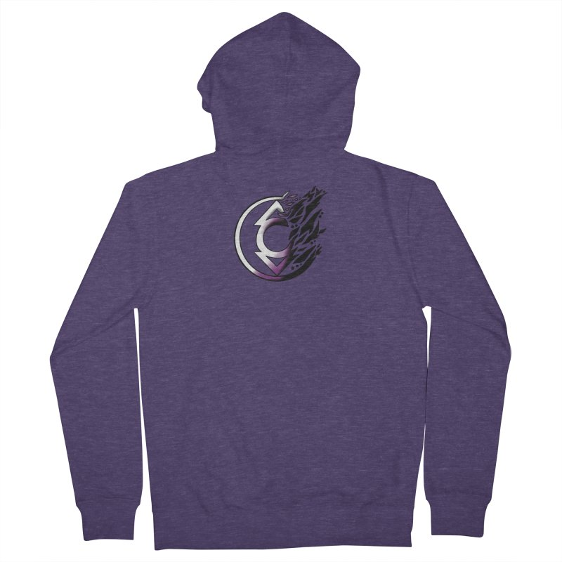 COMPASSION Men's French Terry Zip-Up Hoody by greenlambart's Artist Shop