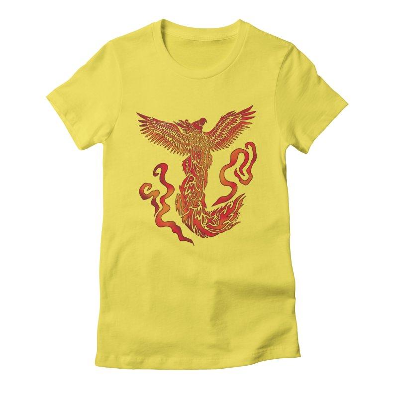RISING Women's T-Shirt by greenlambart's Artist Shop