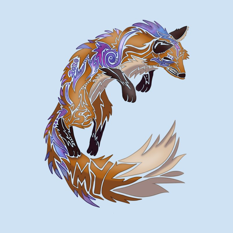 GALAXY FOX Home Fine Art Print by greenlambart's Artist Shop