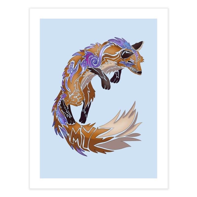 GALAXY FOX Home Fine Art Print by greenlambart's Artist Shop