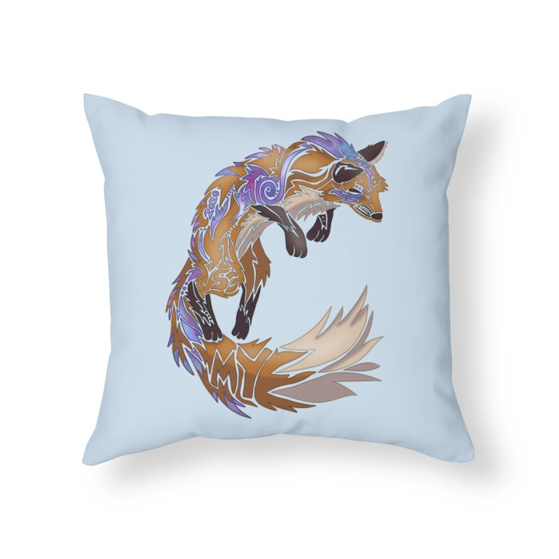 GALAXY FOX Home Throw Pillow by greenlambart's Artist Shop