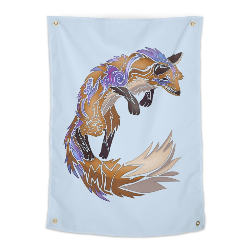 GALAXY FOX Home Tapestry by greenlambart's Artist Shop