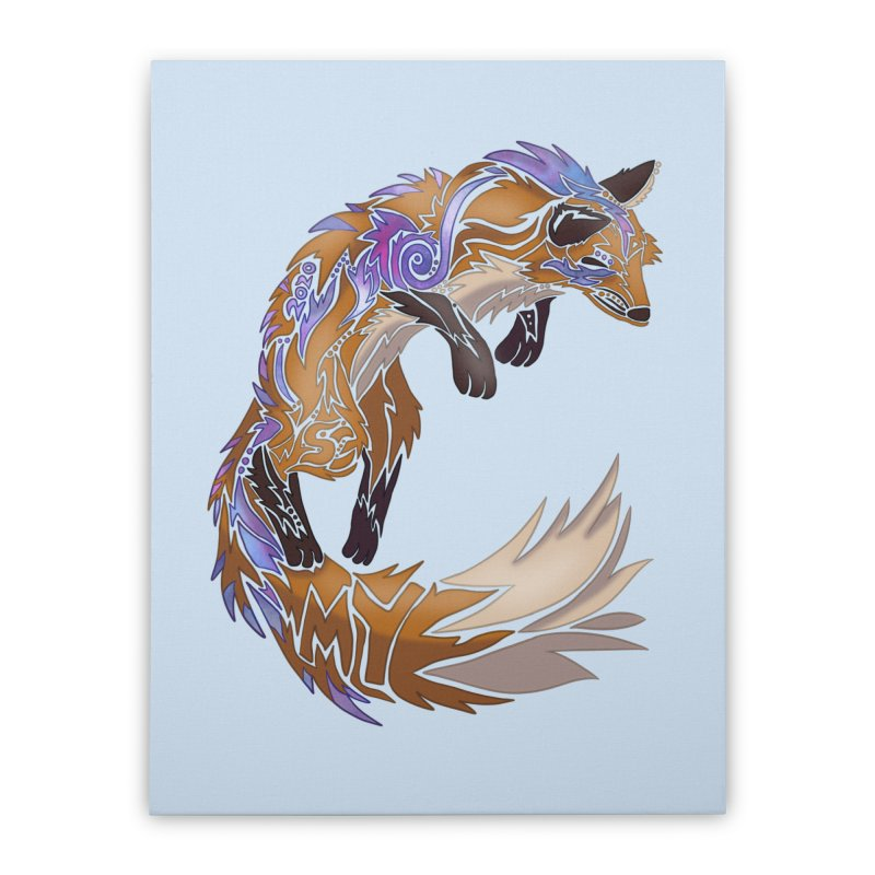 GALAXY FOX Home Stretched Canvas by greenlambart's Artist Shop