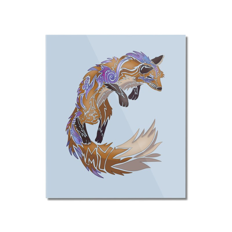 GALAXY FOX Home Mounted Acrylic Print by greenlambart's Artist Shop