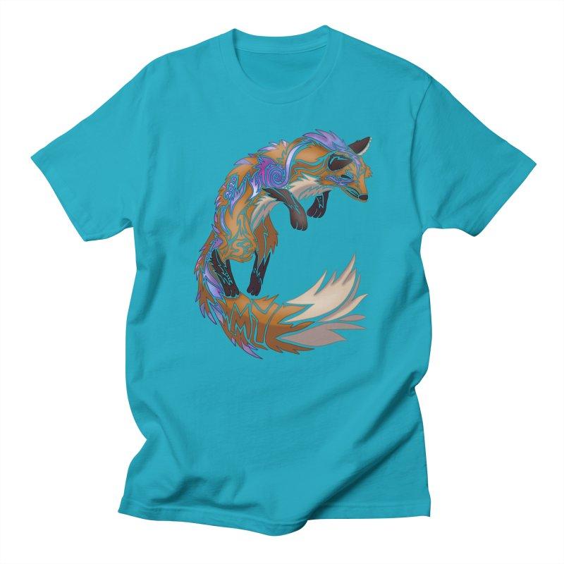 GALAXY FOX Men's T-Shirt by greenlambart's Artist Shop
