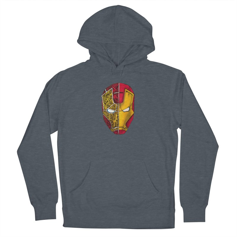 IRON MAN Women's French Terry Pullover Hoody by greenlambart's Artist Shop
