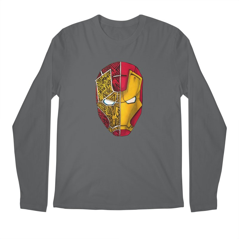 IRON MAN Men's Regular Longsleeve T-Shirt by greenlambart's Artist Shop