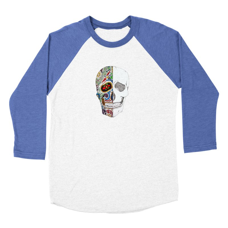 SUGAR SKULL Women's Baseball Triblend Longsleeve T-Shirt by greenlambart's Artist Shop