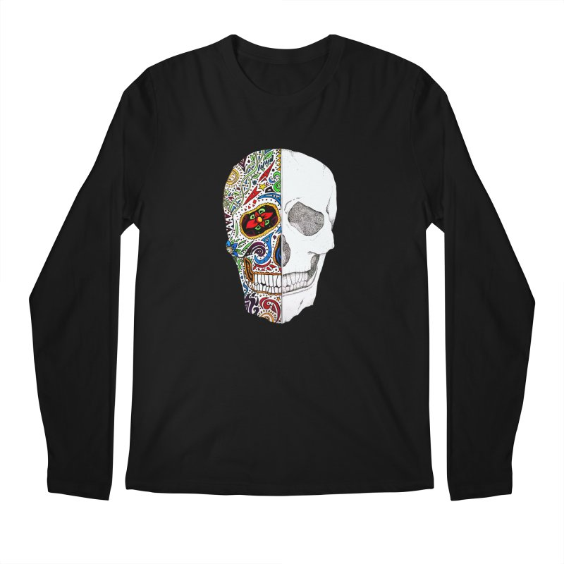 SUGAR SKULL Men's Regular Longsleeve T-Shirt by greenlambart's Artist Shop