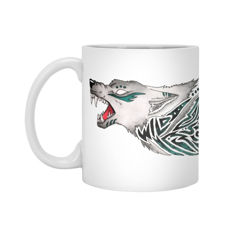 WILD WOLF Accessories Mug by greenlambart's Artist Shop