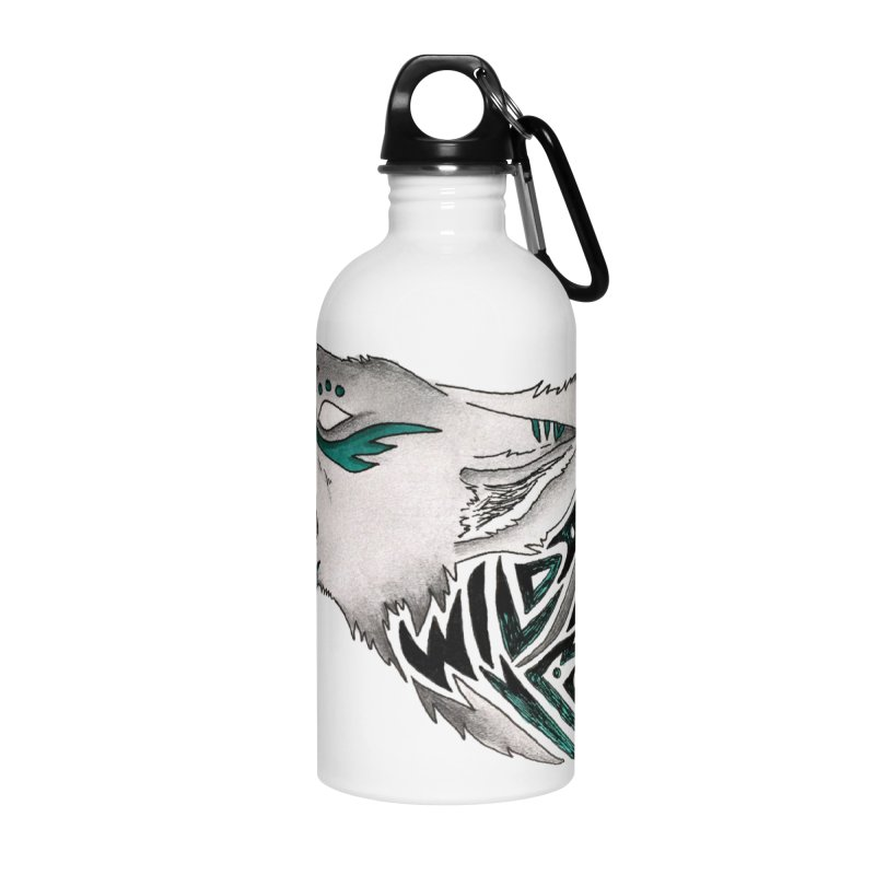 WILD WOLF Accessories Water Bottle by greenlambart's Artist Shop