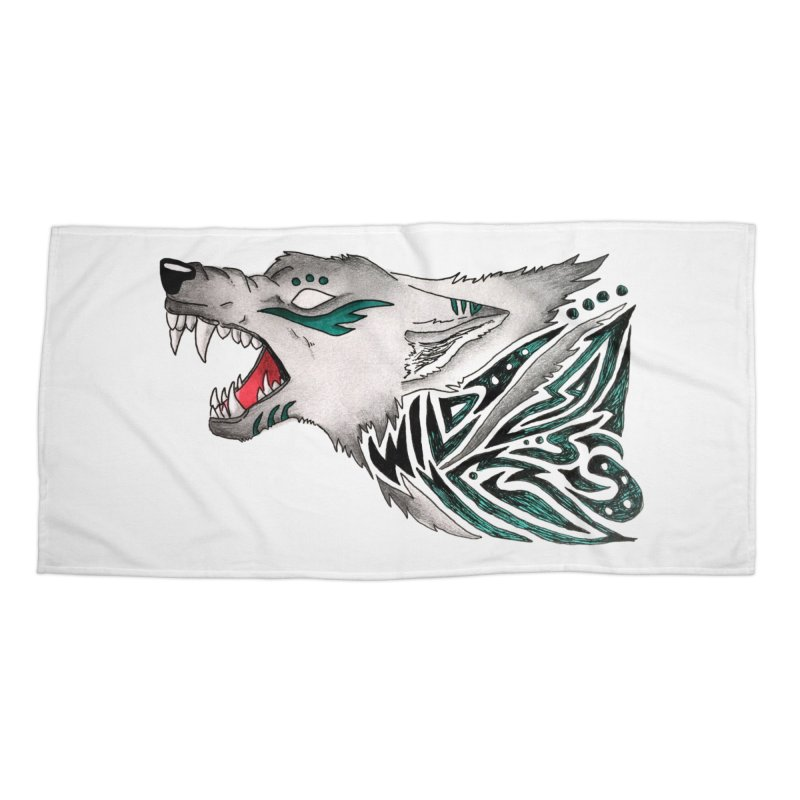 WILD WOLF Accessories Beach Towel by greenlambart's Artist Shop