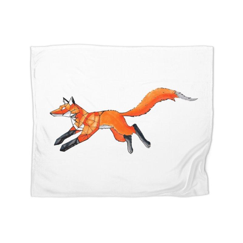 GEO FOX Home Fleece Blanket Blanket by greenlambart's Artist Shop