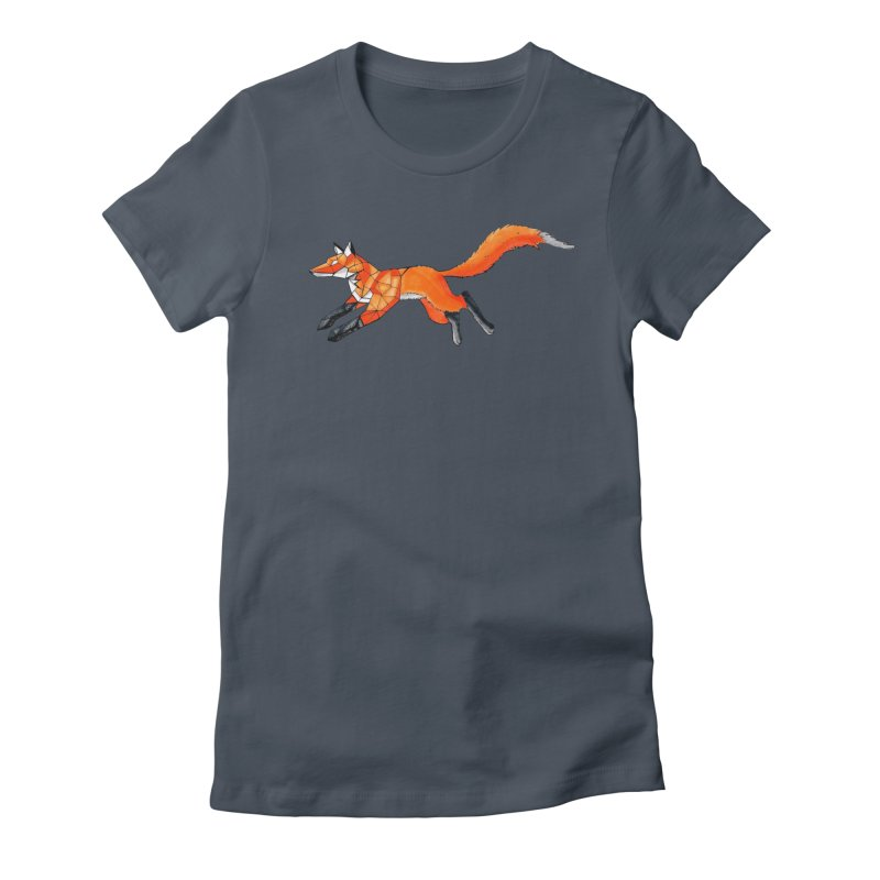 GEO FOX Women's T-Shirt by greenlambart's Artist Shop