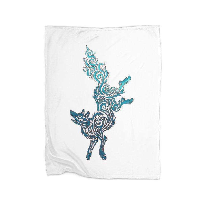 FALLING FIRE Home Fleece Blanket Blanket by greenlambart's Artist Shop