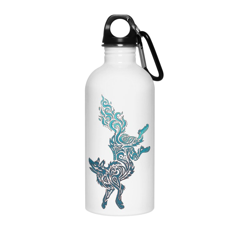 FALLING FIRE Accessories Water Bottle by greenlambart's Artist Shop
