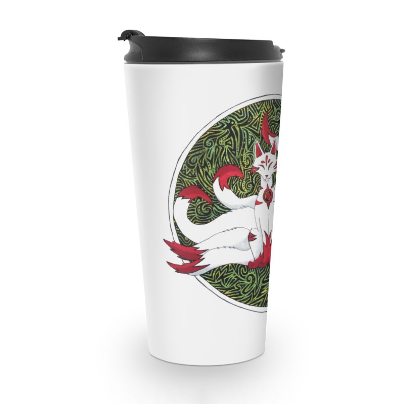 KITSUNE Accessories Travel Mug by greenlambart's Artist Shop