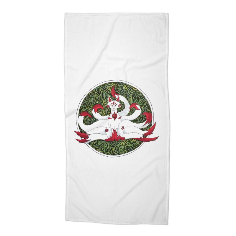 KITSUNE Accessories Beach Towel by greenlambart's Artist Shop