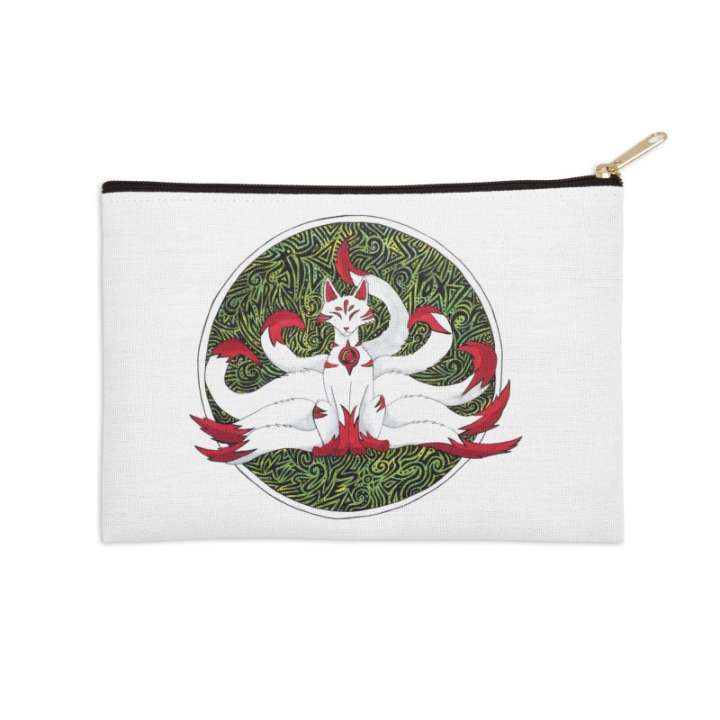 KITSUNE Accessories Zip Pouch by greenlambart's Artist Shop