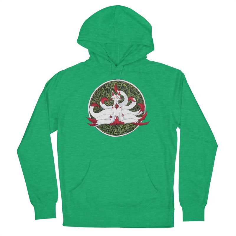 KITSUNE Women's French Terry Pullover Hoody by greenlambart's Artist Shop