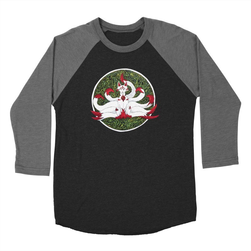 KITSUNE Women's Baseball Triblend Longsleeve T-Shirt by greenlambart's Artist Shop