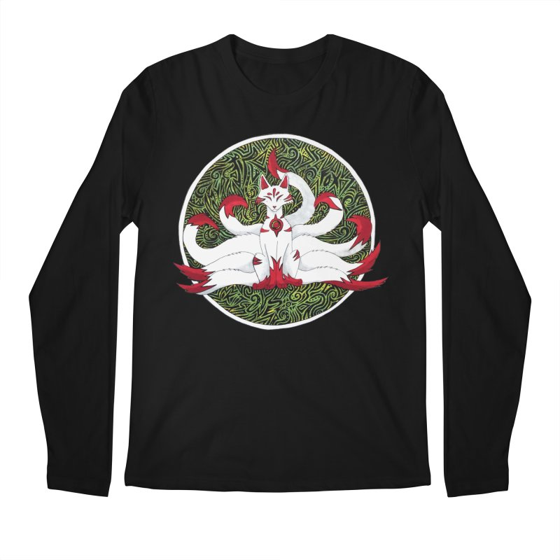 KITSUNE Men's Regular Longsleeve T-Shirt by greenlambart's Artist Shop