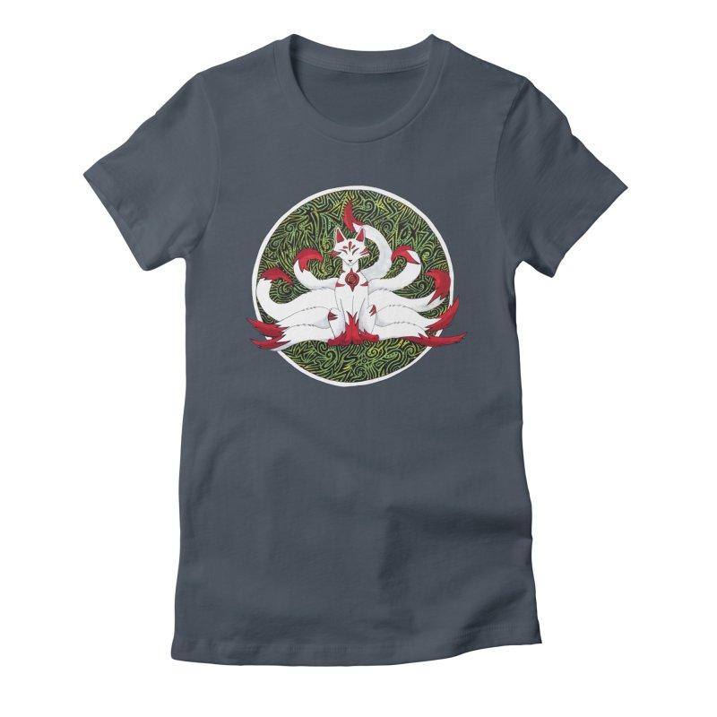 KITSUNE Women's T-Shirt by greenlambart's Artist Shop