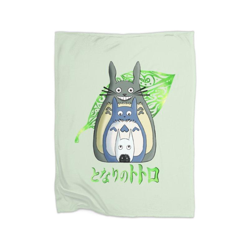TOTORO Home Fleece Blanket Blanket by greenlambart's Artist Shop