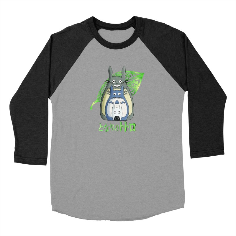 TOTORO Women's Baseball Triblend Longsleeve T-Shirt by greenlambart's Artist Shop