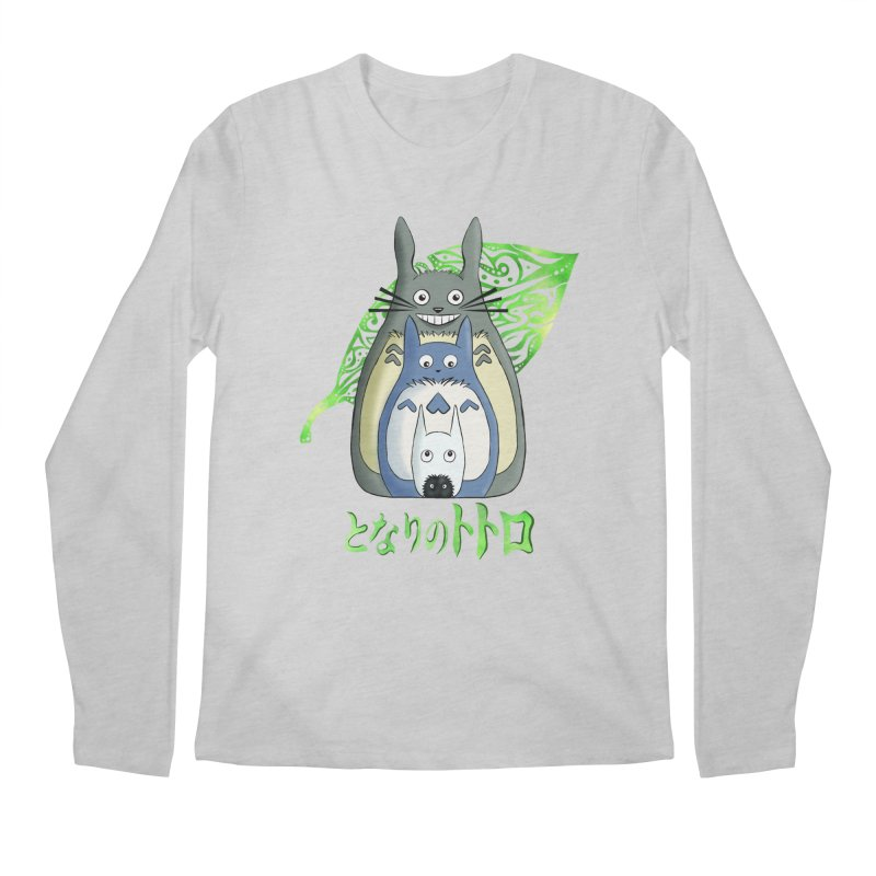 TOTORO Men's Regular Longsleeve T-Shirt by greenlambart's Artist Shop