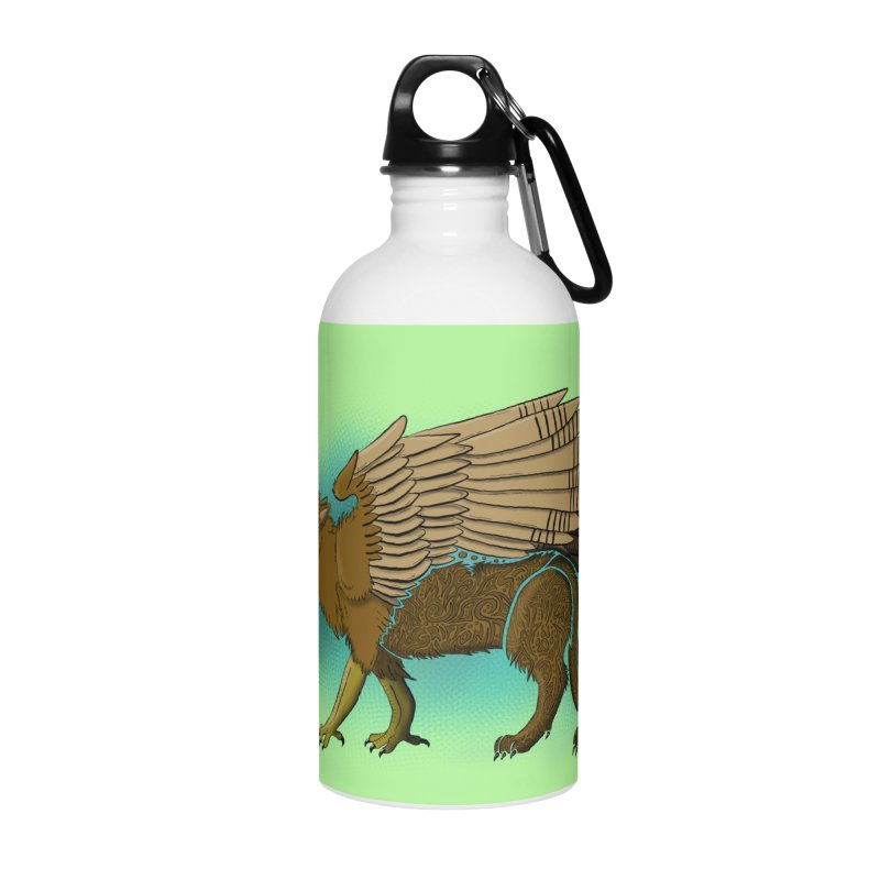 GRIFFON Accessories Water Bottle by greenlambart's Artist Shop