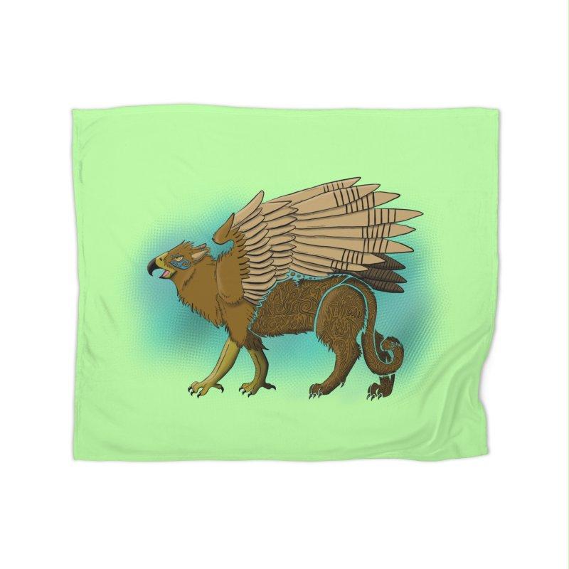 GRIFFON Home Fleece Blanket Blanket by greenlambart's Artist Shop