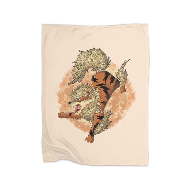 ARCANINE Home Blanket by greenlambart's Artist Shop