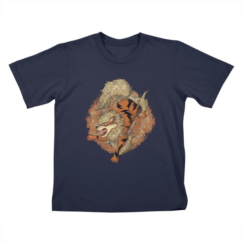 ARCANINE Kids T-Shirt by greenlambart's Artist Shop