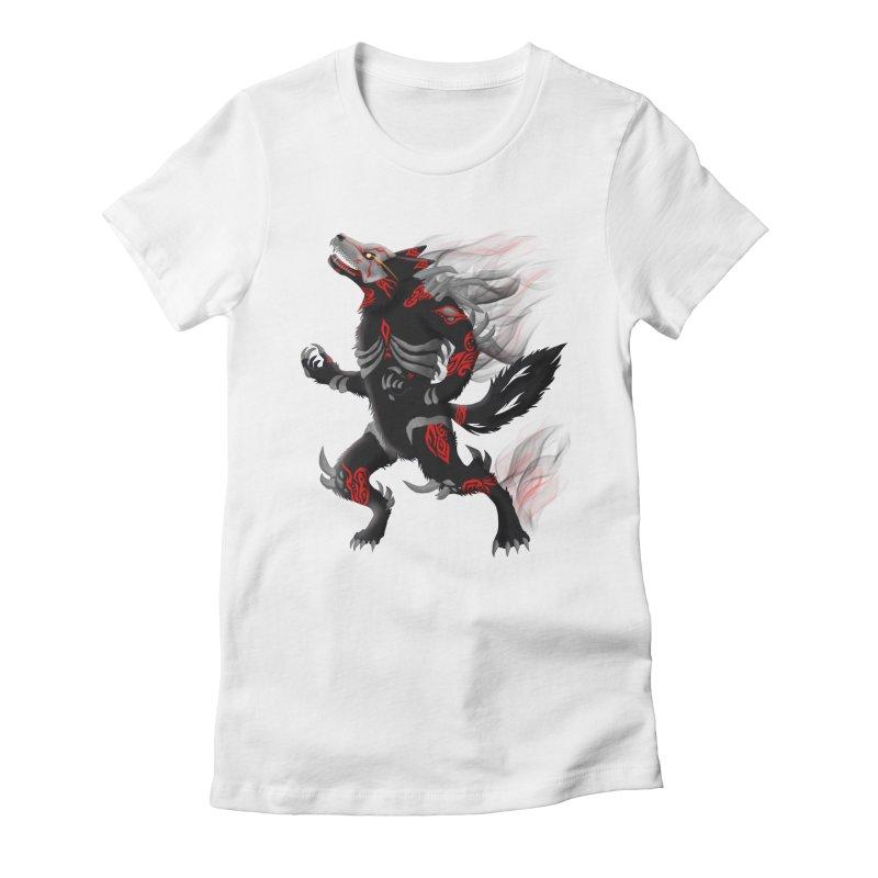 GRIMM Women's Fitted T-Shirt by greenlambart's Artist Shop