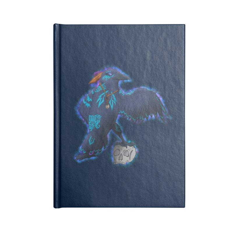 MYSTIC CROW Accessories Notebook by greenlambart's Artist Shop