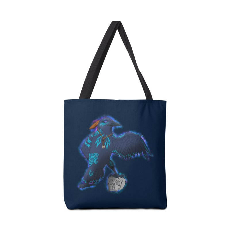 MYSTIC CROW Accessories Tote Bag Bag by greenlambart's Artist Shop
