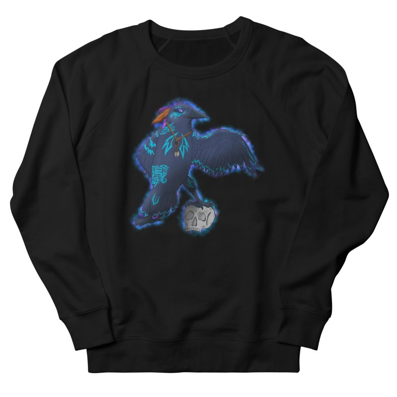 MYSTIC CROW Men's French Terry Sweatshirt by greenlambart's Artist Shop