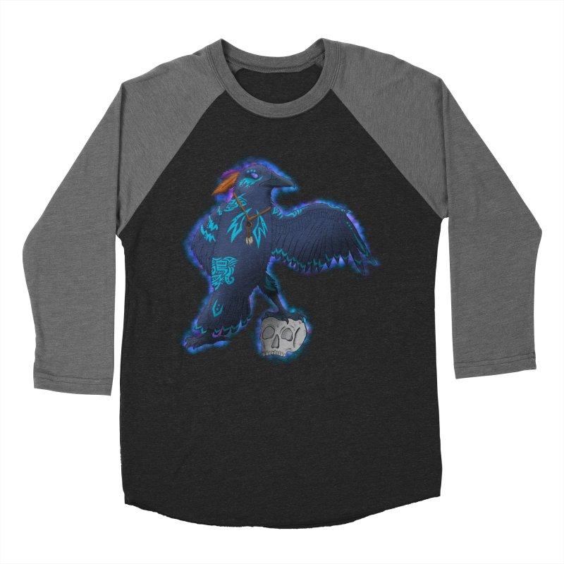 MYSTIC CROW Women's Baseball Triblend Longsleeve T-Shirt by greenlambart's Artist Shop