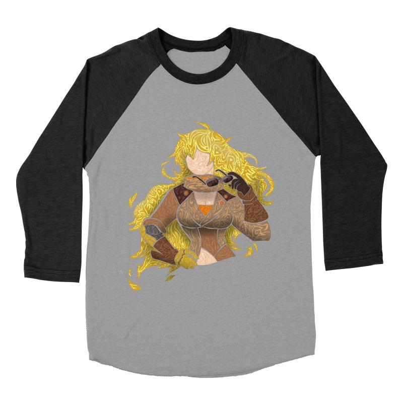 YELLOW Women's Baseball Triblend Longsleeve T-Shirt by greenlambart's Artist Shop