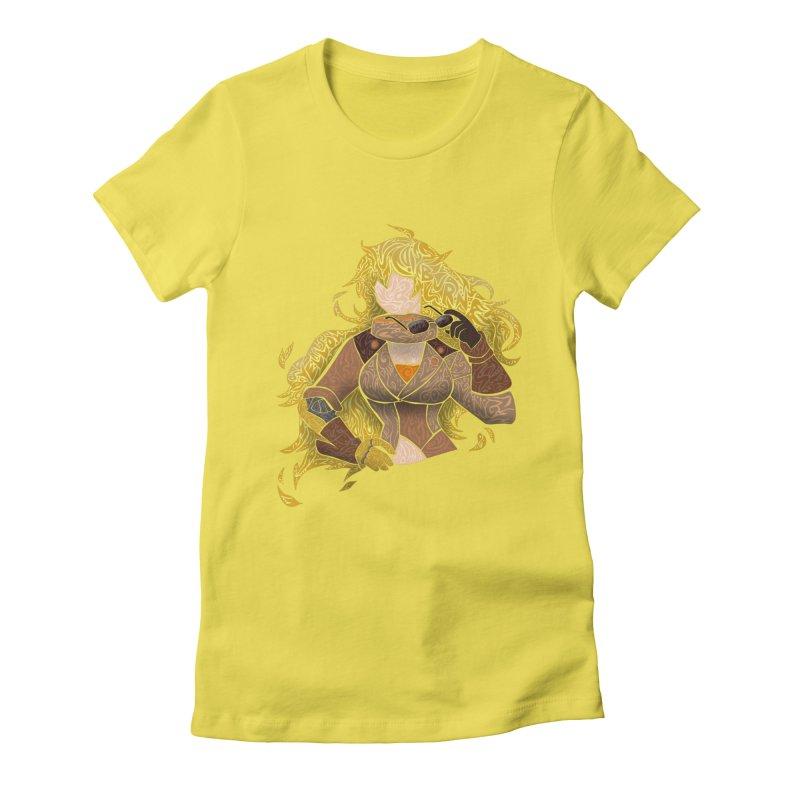 YELLOW Women's T-Shirt by greenlambart's Artist Shop
